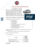 Ficha Técnica Fiat Siena EL MY 2015