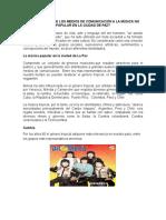 Falta de Apoyo de Los Medios de Comunicación a La Musica No Popular en La Ciudad de Paz