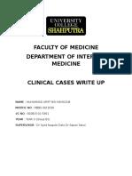 internal Medicine Write Up 1