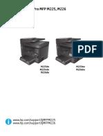 Manual de La Impresora HP LaserJet M225 pmf .... Multifuncional
