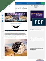 Publicaciones falsas en internet