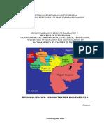 Regionalización Descentralización y