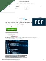 La Laboriosa Historia Del Software Libre