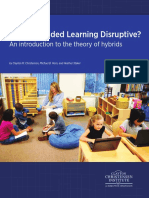 Is K 12 Blended Learning Disruptive