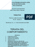 Terapia Del Comportamiento-terapias'Patty