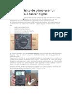 Tutorial básico de cómo usar un multímetro o tester digital.docx