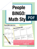 math bingo year 3-6
