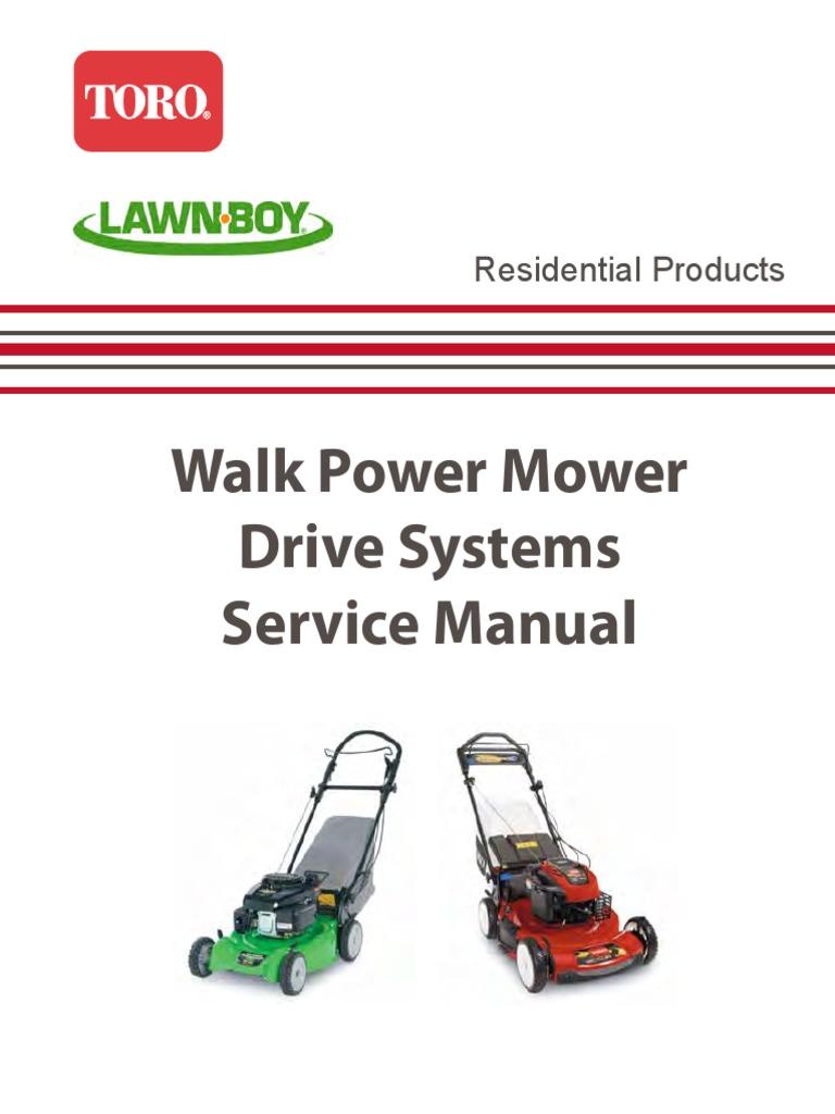 Toro Walk Power Mower Drive Systems Servics Manual wbmdrsys.pdf | Manual  Transmission | Transmission (Mechanics)