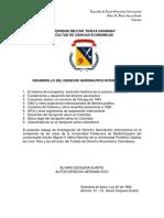 Desarrollo Del Derecho Aeronautico Internacional