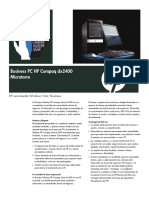 HP Compaq Dx2400 Business Data Sheet