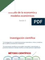 Método de La Economía y Modelos Económicos