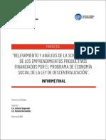Informe Final Emprendimientos Productivos de Economia Social La Pampa