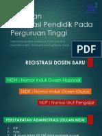Panduan Registrasi Dosen