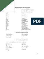Tablas,Propiedades y Formulas (Matematicas)
