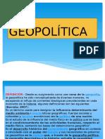 Diapositivas de La Geopolitica