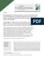 Estrategias para la implementación y reporte de los puntos de corte CLSI vigentes y pruebas fenotípicas confirmatorias para BLEE y carbapenemasas en bacilos Gram negativos en laboratorios clínicos de Colombia