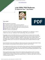 Wild Edible Mushrooms - Article About Harvesting Mushrooms - Alan Muskat Mycologist - Susun Weed