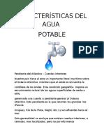 Características del Agua