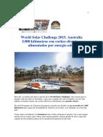 -World Solar Challenge 2015