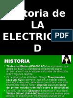 Historia de La Electricidad.