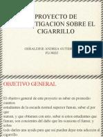 Proyecto de Investigacion Sobre El Cigarrillo