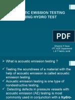 Accoustic Emmission Testing Presentation