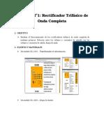 Informe No1-Rectificador Trifasico de Onda Completa