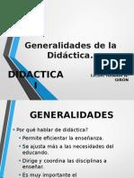 Generalidades de La Didáctica