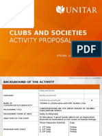 Club and Society Proposal Template