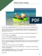 5 domande per semplificarsi la vita in vacanza