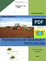 Manual de preparación de terrenos y fertilizantes, capacidad 1