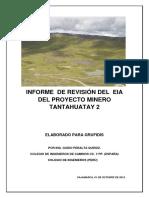 Informe de Revisión Del EIA Del Proyecto Minero Tantahuatay 2