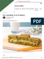 Five 'Martabak' to Try in Jakarta - The Jakarta Post