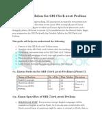 Detailed Syllabus for SBI Clerk 2016 Prelims