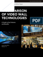 White Paper a Comparison of Video Wall Technologies
