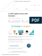 12 (All) English Tenses With Examples - MyEnglishTeacher