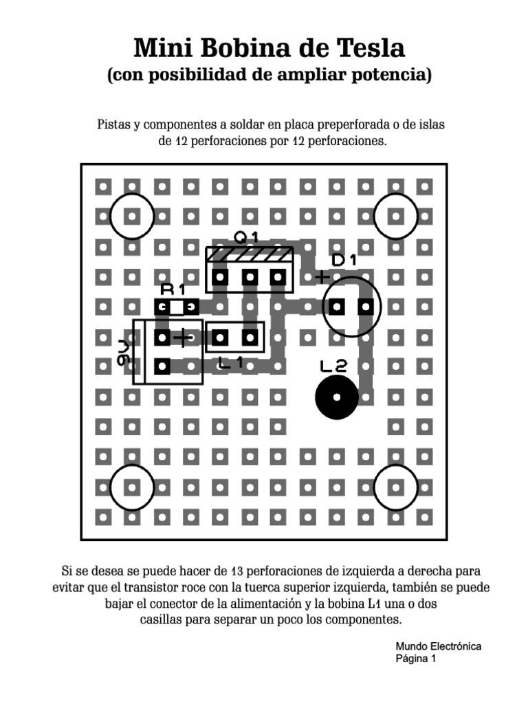 Circuito Bobina De Tesla : Mini bobina de tesla