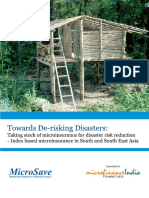 Microinsurance Towards de Risking Disasters MicroSave
