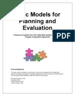 Logic Models for Planning Evaluation