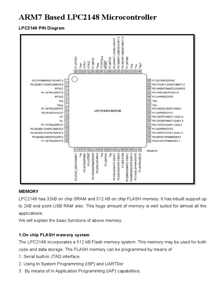 ARM7 Based LPC2148 Microcontroller | Flash Memory