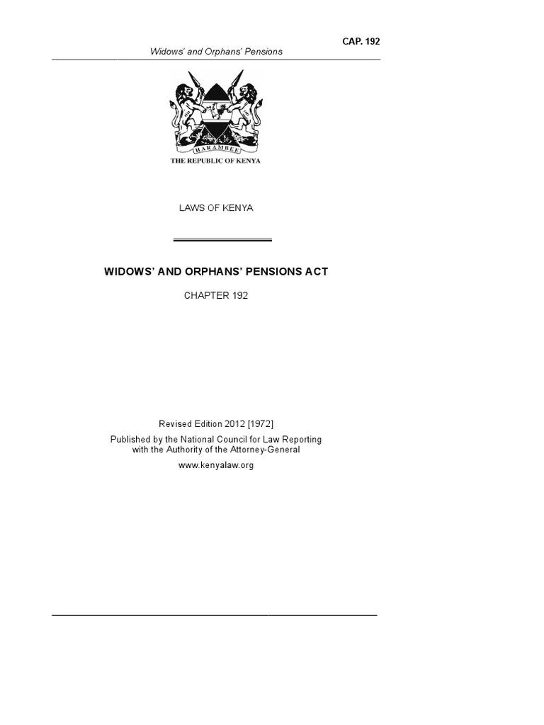 WidowsandOrphansPensionsAct22of1921 (1) | Pension | Salary