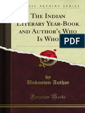 The Indian Literary Year-Book and Authors Who is Who 1000693536