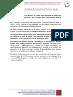 CRÓNICA DEL ACTO La Federación de Mujeres Cubanas Historia y Ejemplo