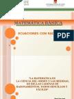 2- Ecuaciones Con Radicales - Valor Absoluto