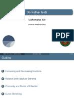 L16 Derivative Tests