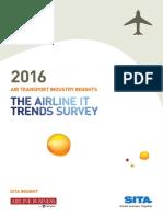 SITA Airline It Trends Survey 2016