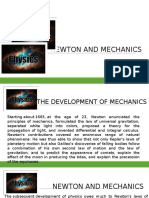 Newton and Mechanics