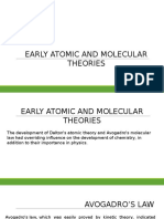 Early Atomic and Molecular Theories