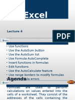 Lecture 4 - Creating Simple Formula