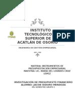 Presupuesto Financiero Investigacion